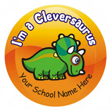 """Personalised """"I'm Clever"""" Stickers"""