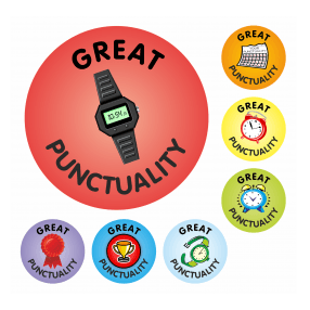 Reward kids that have great punctuality