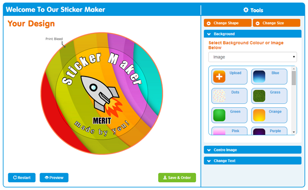 School Stickers Custom Sticker Design Tool