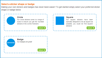 You can now choose to create your own badges using the sticker maker
