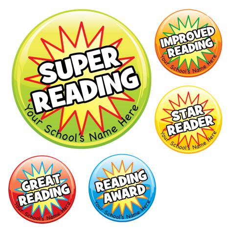 Starburst Reading Stickers