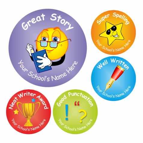 Writing Award Stickers