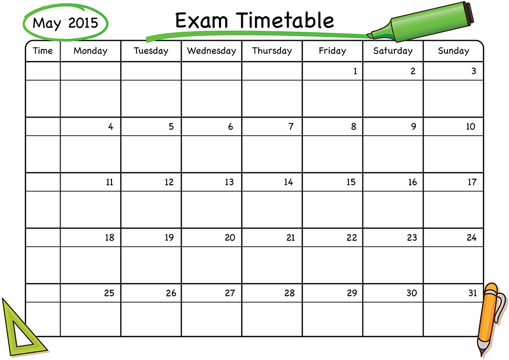 don u2019t miss out  the school stickers exam timetable