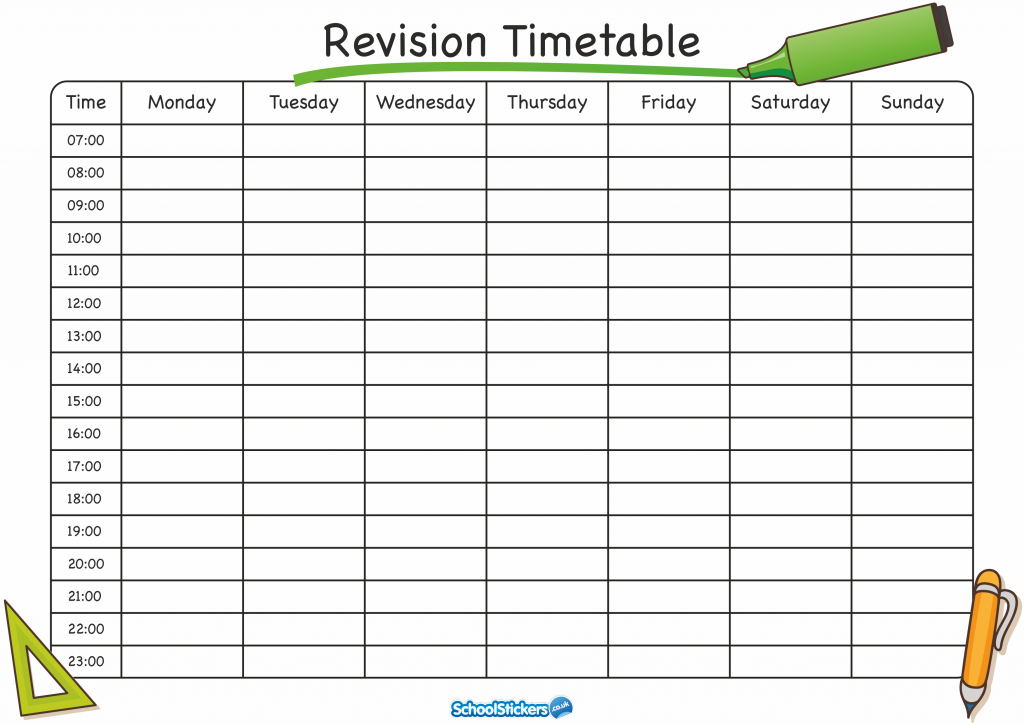The School Stickers Revision Timetable Is Here