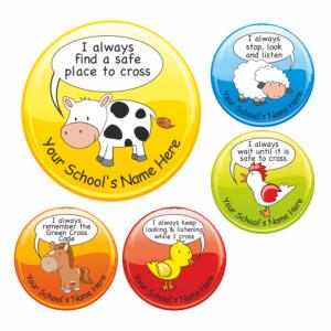 Green Cross Code Stickers