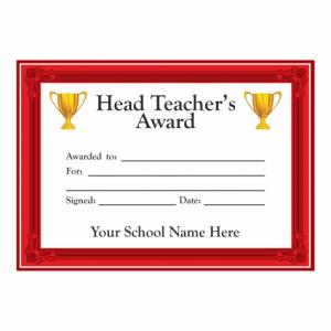 Head Teachers Award