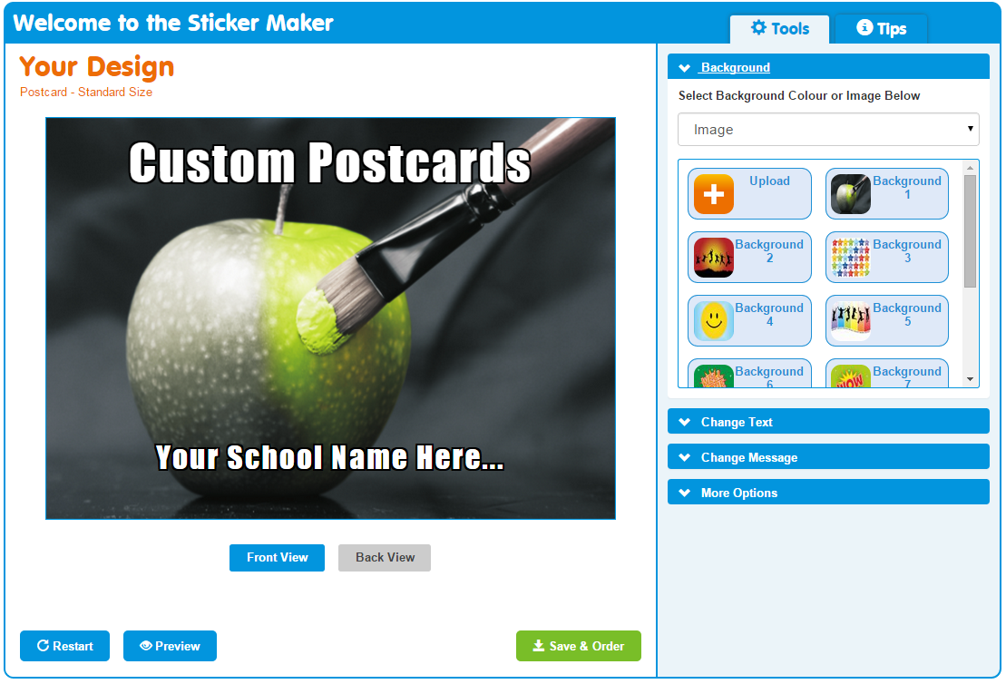 Sticker Maker: Create Your Own Postcards! | SchoolStickers