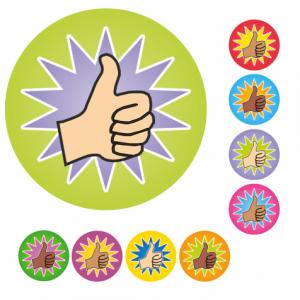 Mini Thumbs Up Stickers