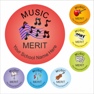 Classic Music Reward Stickers
