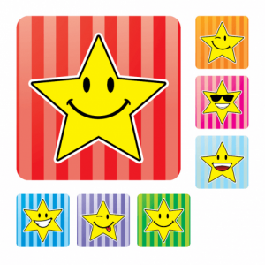 Square Smiley Stars
