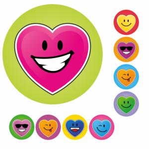 Mini Heart Stickers
