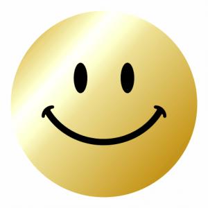 Metallic Gold Smiley