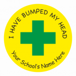 Bumped head sticker