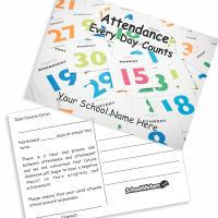 attendance postcard