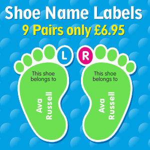 Shoe Name Labels