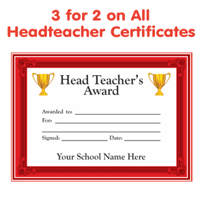 Order your Headteacher Certificates