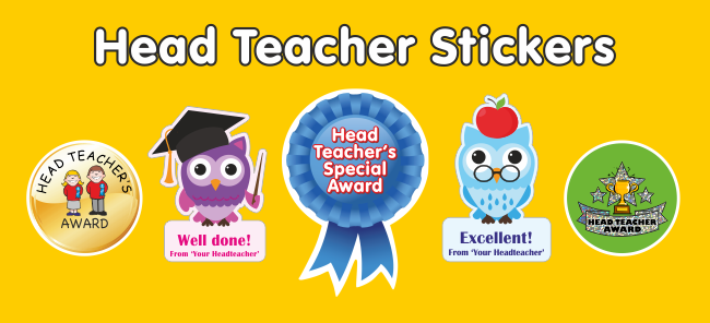 View all headteacher stickers