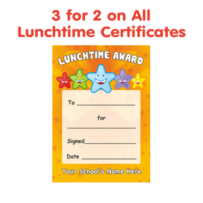 Lunchtime Reward Stickers Amp Certificates School Stickers