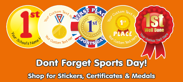 Shop for Sports Day Stickers & Rewards