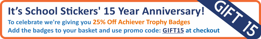 25% off Achiever Trophy Badges - Today Only