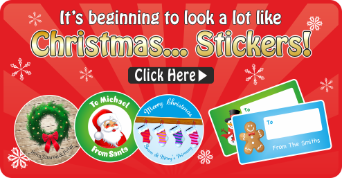 Christmas Stickers, Tags & Labels