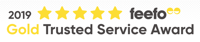 Feefo Reviews 2019 Gold Trusted Service Award