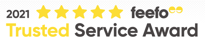Feefo Reviews 2021 Gold Trusted Service Award