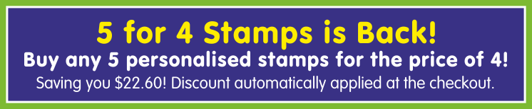 Buy 4 Stampers, Get a 5th one free